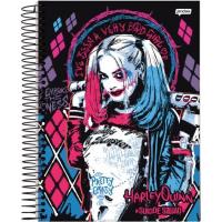 Caderno Universitário Espiral Capa Dura 1X1 96 Folhas - Harley Quinn - 7894494644757