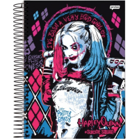 Caderno Universitário Espiral Capa Dura 200 folhas Harley Quinn - 7894494644795