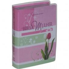 A Bíblia da Mulher – leitura, devocional, estudo - Capa Tulipas - RA 7898521813741 - Letra Normal