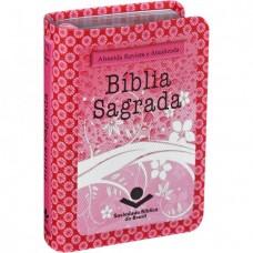 Bíblia de bolso capa Rosa e flores - RA