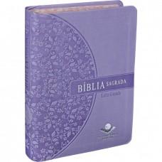 Bíblia Letra Grande RA beira estampada - Lilas