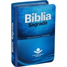 Bíblia Sagrada Edição de Bolso - capa azul - RA