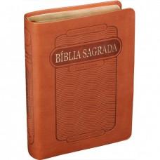 Bíblia Sagrada Letra Grande RC com índice - Marrom  bib02231
