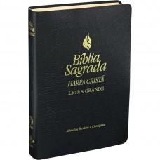 Bíblia Sagrada Letra Grande com Harpa Cristã RC - Preta