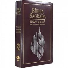 Bíblia Sagrada - Harpa Cristã - Com dicionário e Concordância - Vinho -  7899938401514