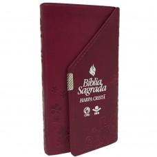 Bíblia Carteira com Harpa Cristã Vinho - RC