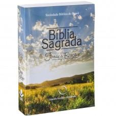 Bíblia RA – Econômica Fonte de Bênçãos Letra Maior Brochura Campo - Editora SBB - 7898521807481