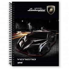 Caderno universitario capa dura 10x1 200 folhas  Lamborghini 04582 Spiral