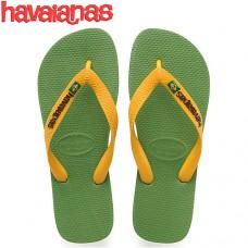 Havaianas Brasil Logo Green Bamboo