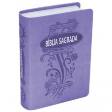 Bíblia letra grande RC - Violeta borda prateada